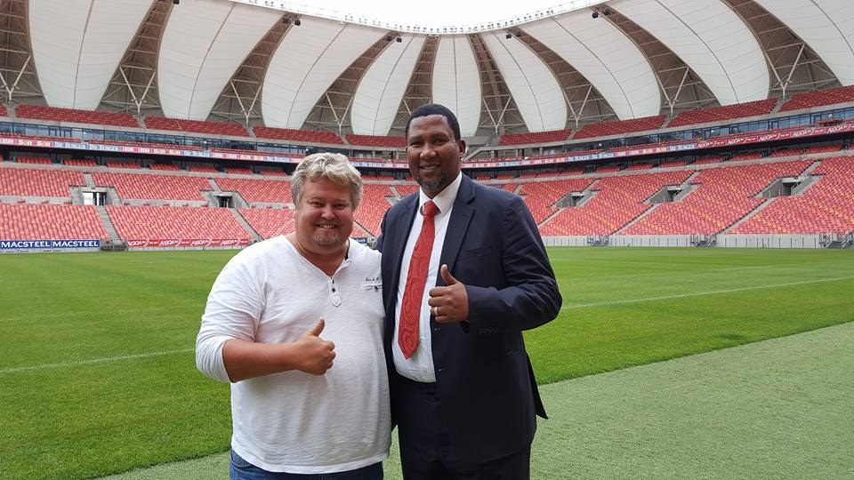 Meeting with the HrH Chief Mandela at the Nelson Mandela Bay Stadium