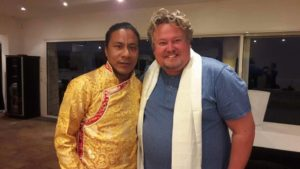 Richard Nilsson and Jampa Phurba Dorjee Lama