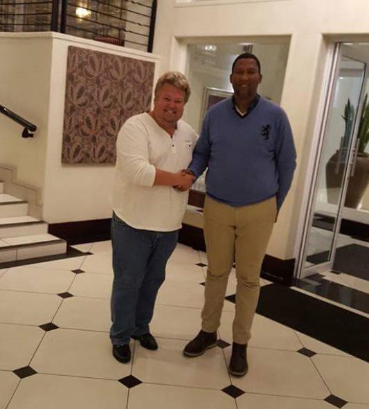 Richard Nilsson and HrH Chief Mandela